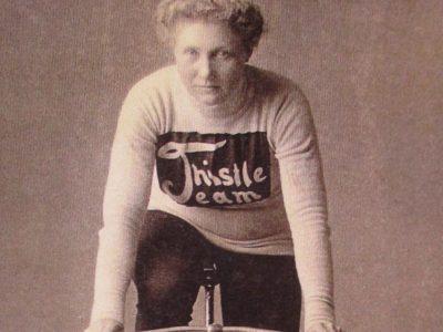 Tillie on Thistle facing forward
